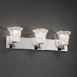 Veneto Luce Modular Three-Light Matte Black Bath Fixture