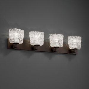Veneto Luce Modular Four-Light Dark Bronze Bath Fixture