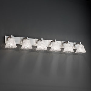 Veneto Luce Modular Six-Light Antique Brass Bath Fixture
