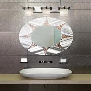 Veneto Luce Polished Chrome Three-Light Bath Bar with Whitewash Glass