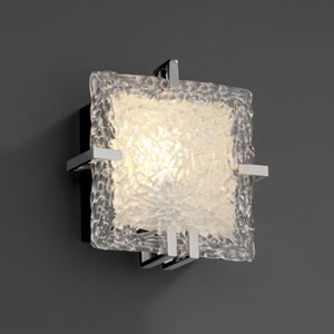 Veneto Luce Clips Square Polished Chrome 1000 Lumen LED Wall Sconce