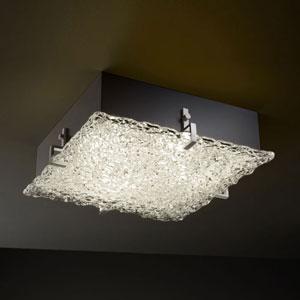 Veneto Luce Clips 12-Inch Two-Light Matte Black Square 2000 Lumen LED Flush-Mount