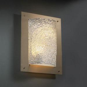 Veneto Luce Framed Rectangle Four-Sided Two-Light Fluorescent Dark Bronze 2000 Lumen LED Wall Sconce