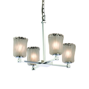 Veneto Luce  Polished Chrome 21.5-Inch LED Chandelier