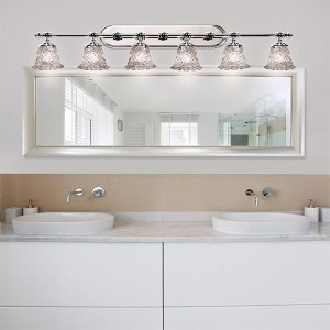 Veneto Luce Polished Chrome Six-Light Bath Bar