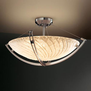 Veneto Luce 24-Inch 5000 Lumen LED Bowl Pendant with Crossbar