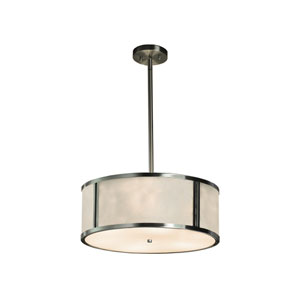 Clouds Brushed Nickel 18-Inch LED Drum Pendant