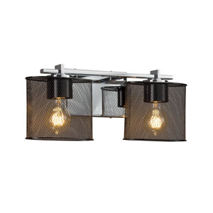Wire Mesh - Era Polished Chrome Two-Light Bath Vanity with Black Wire Mesh