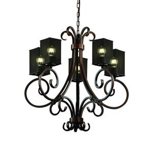 Wire Mesh™  Antique Brass Five-Light Chandelier