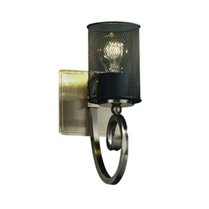 Wire Mesh™  Matte Black One-Light Sconce