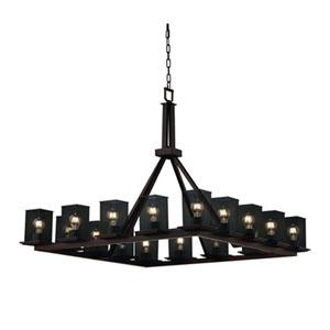 Wire Mesh™  Dark Bronze 16-Light Chandelier