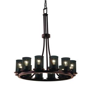 Wire Mesh™  Dark Bronze Twelve-Light Chandelier