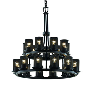 Wire Mesh™  Matte Black 21-Light Chandelier