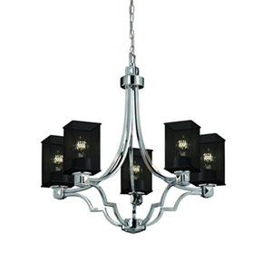 Wire Mesh™  Brushed Nickel Five-Light Chandelier