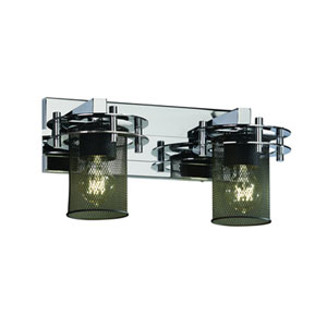 Wire Mesh™  Dark Bronze Two-Light Bath Sconce
