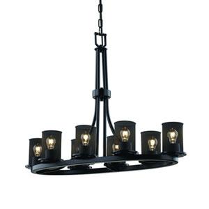 Wire Mesh™  Matte Black Eight-Light Chandelier