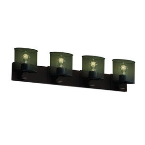 Wire Mesh™  Dark Bronze Four-Light Bath Sconce