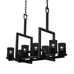Wire Mesh™  Dark Bronze Eight-Light Chandelier