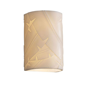 Porcelina Small Cylinder Faux Porcelain 1000 Lumen LED Wall Sconce with Open Top and Bottom Outdoor