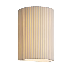 Porcelina Wall Sconce Large Cylinder Faux Porcelain Open Top and Bottom Outdoor Wall Sconce