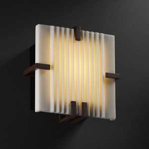 Porcelina Clips Square LED Dark Bronze Wall Sconce