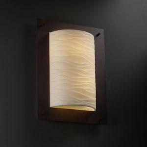 Porcelina Framed Rectangle Four-SidedTwo-Light Fluorescent Dark Bronze Wall Sconce