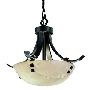 Porcelina Matte Black Two-Light 14-Inch Round Bowl Pendant with Flat Bars and Finial