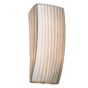 Porcelina Faux Porcelain Resin One-Light Rectangular Wall Sconce with Waterfall Shade