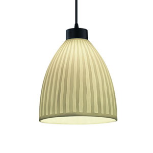 Porcelina™  Matte Black One-Light Pendant