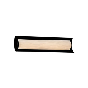 Porcelina  Matte Black 21.5-Inch LED Bath Bar