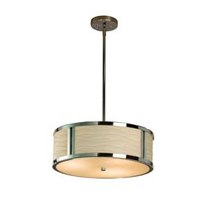 Porcelina  Polished Chrome 18-Inch LED Drum Pendant
