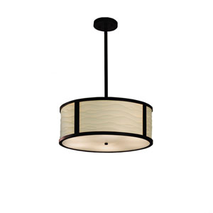 Porcelina  Dark Bronze 18-Inch LED Drum Pendant