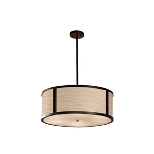 Porcelina  Dark Bronze 24-Inch LED Drum Pendant