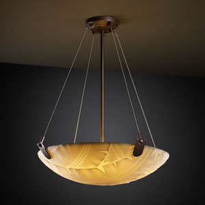 Porcelina U-Clips 18-Inch Three-Light Dark Bronze 3000 Lumen LED Pendant Bowl With U-Clips