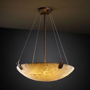 Porcelina U-Clips 24-Inch Six-Light Dark Bronze 5000 Lumen LED Pendant Bowl With U-Clips