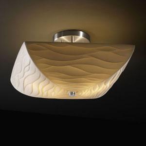 Porcelina Semi-Flush 14-Inch Two-Light Matte Black Square 2000 Lumen LED Semi-Flush Mount