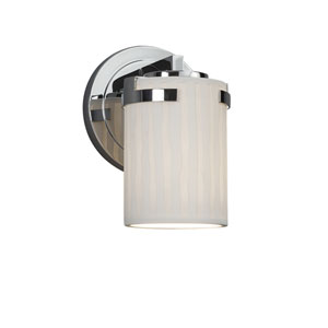 Limoges - Atlas Polished Chrome One-Light Wall Sconce with Off-White Translucent Porcelain