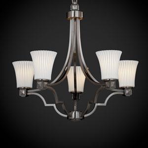 Limoges Argyle Five-Light Brushed Nickel Chandelier