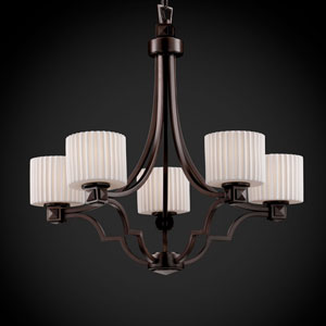 Limoges Argyle Five-Light Dark Bronze Chandelier