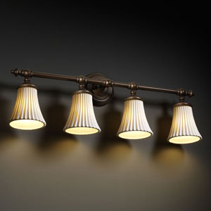 Limoges Tradition Four-Light Dark Bronze Bath Fixture