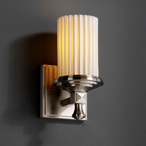 Limoges Deco Brushed Nickel Wall Sconce