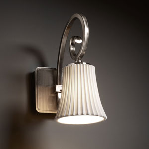 Limoges Victoria Brushed Nickel Wall Sconce