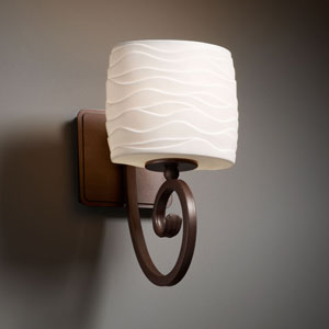 Limoges Victoria Dark Bronze Wall Sconce