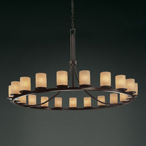 Limoges Dakota 21-Light Dark Bronze One-Tier Ring Chandelier