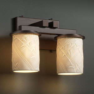 Limoges Dakota Two-Light Dark Bronze Straight-Bar Bath Fixture