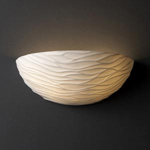 Waves Porcelain Wall Sconce