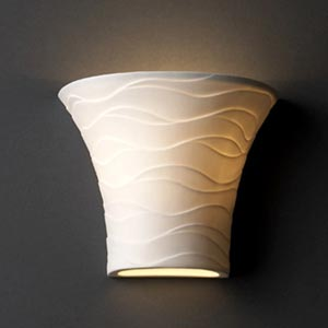 Wave Flared Wall Sconce