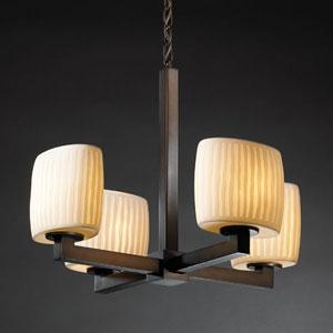 Limoges Modular Four-Light Dark Bronze Chandelier