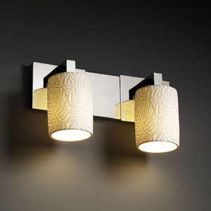 Limoges Modular Two-Light Dark Bronze Bath Fixture