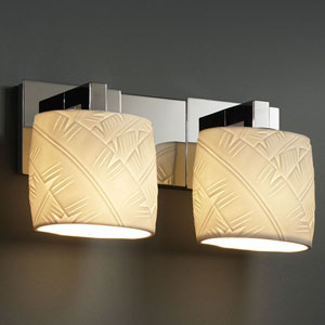 Limoges Modular Two-Light Brushed Nickel Bath Fixture